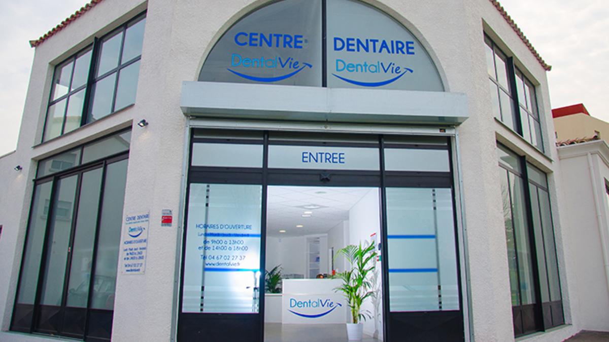 Façade centre dentaire Dentalvie Montpellier Groupe Dentego 1200x675