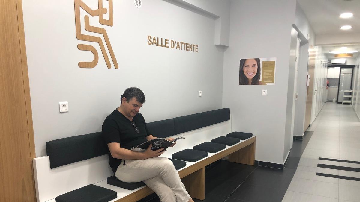 Salle d'attente centre dentaire Paris 15 Lecourbe