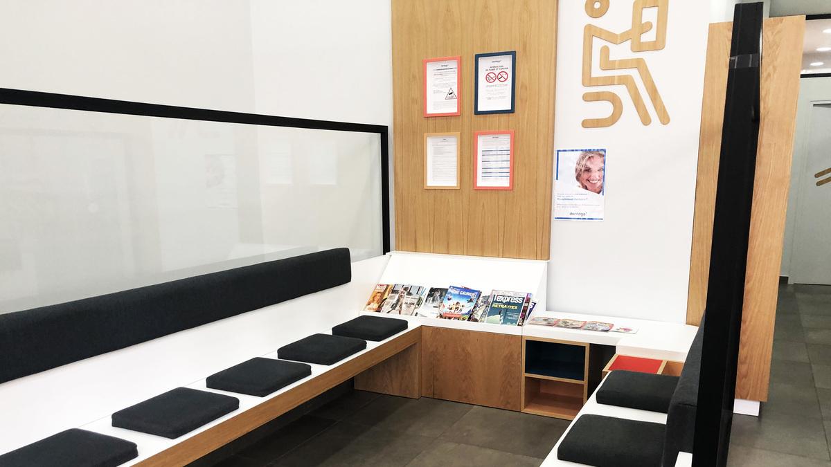 salle d'attente centre dentaire lyon république Dentego